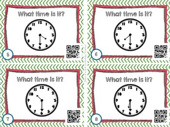Time Differentiated Task Cards with QR Codes- Clocks and Elapsed Time
