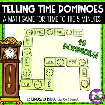 Telling Time Game:  Time Dominoes