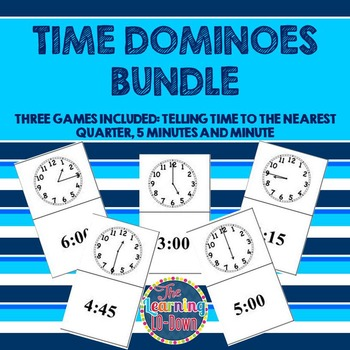 Time Dominoes BUNDLE: Telling Time Games