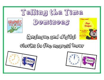 Time Dominoes - Digital and Analogue Clocks to the hour