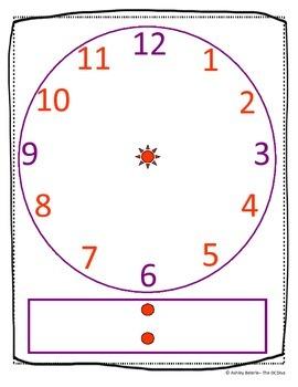 Time Dry Erase Clock