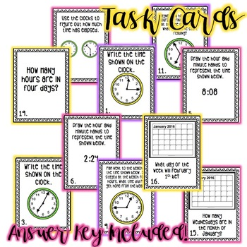 Time, Elapsed Time, and Equivalent Periods of Time Review Bundle