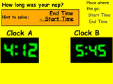 Basic Math Skills - Time - Elapsed Time (worksheet included) (POWERPOINT)