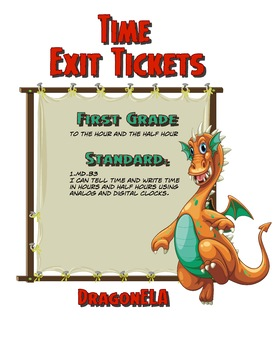 Time Exit Tickets First Grade