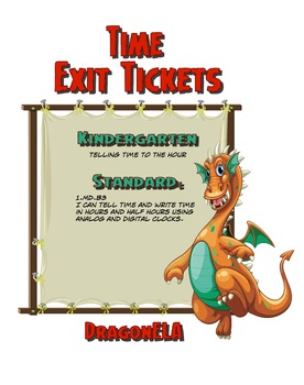 Time Exit Tickets Kindergarten