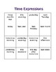 Time Expressions Bingo