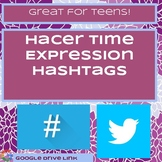Time Expressions with Hacer Hashtags