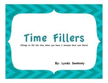 Time Filler Cards Basic Skills