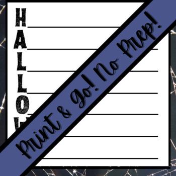 Halloween Activity: Acrostic Poem