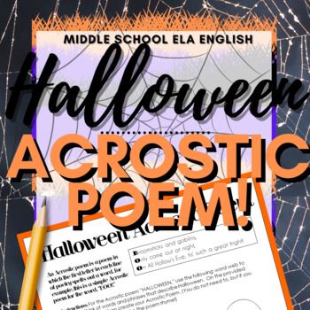 Halloween Activity: Acrostic Poem