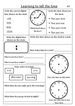 Time Five Minutes - Pack 5