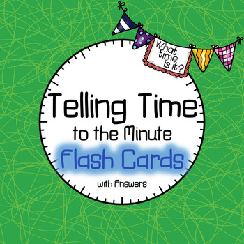 Time Flash Cards to the Minute BUNDLE