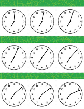 Time Flash Cards to the Minute