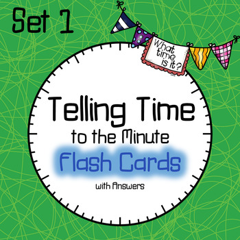 Time Flash Cards to the Minute Set 1