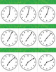 Time Flash Cards to the Minute Set 2