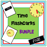 Time Flashcard BUNDLE - O'Clock, Half Past, Minutes and 24