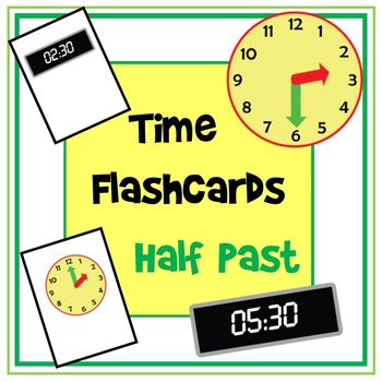 Time Flashcards - Half Past