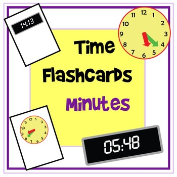 Time Flashcards - Minutes