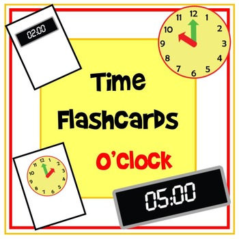 Time Flashcards - O'Clock