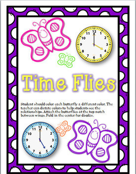 Time Flies - A Spring themed- time craft activity