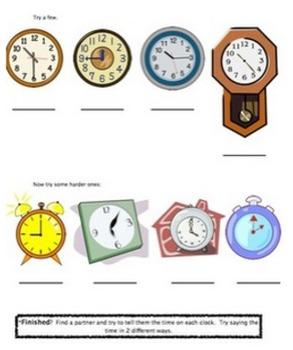 Time Flies When You're In Math Class: Telling Time and Elapsed Time