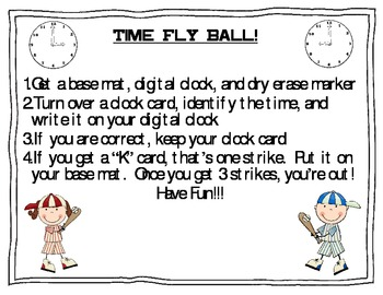 Time Fly Ball, A Math Game