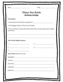 Time For Kids- Building A Bridge