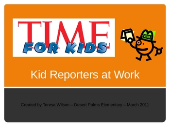 Time For Kids - Kid Reporters at Work - Vocabulary