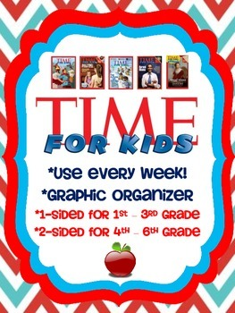 Time For Kids Magazine Weekly Graphic Organizer!