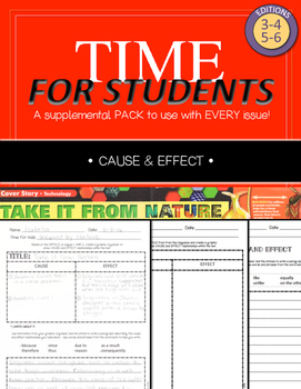 Time For Kids Supplemental Pack - Cause and Effect