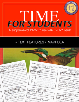 Time For Kids Supplemental Pack - Text Features and Main Idea