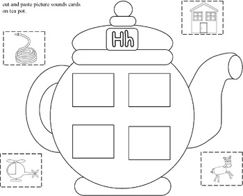 Time For Tea Colors and Aphabets Teapots and Cups
