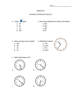 Time Formative Assessment