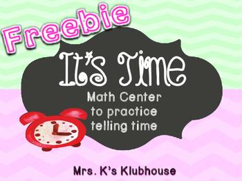 Telling Time Freebie