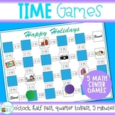Time Games - analog/digital time- hour, half past, quarter to/past, 5 minute