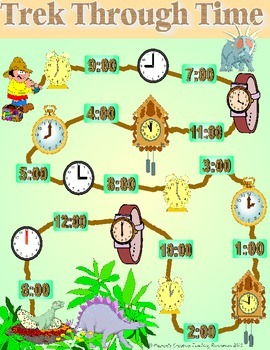 Time Games {o'clock, half past, quarter to/past, 5 minute times}