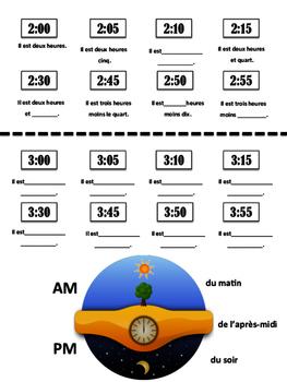 Time Graphic Organizer