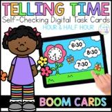 Time (Hour & Half Hour) Digital Task Cards | Boom Cards™ |