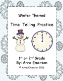 Time: Hour, Half-Hour, and Quarter-Hour: Winter Themed