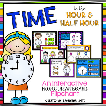 Time - Hour and Half Hour {ActivInspire Flipchart}
