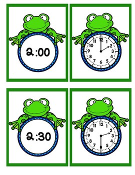 Time - Hour and Half Hour - Frogs