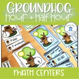 Telling Time to the Hour and Half Hour Groundhog Day Theme