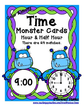 Time - Hour and Half Hour - Monsters