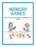 Time – Hours, Half Hours, Quarter Hours Memory Game