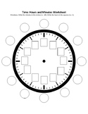 Time: Hours and Minutes Clock Worksheet