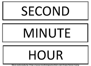 Time - How long will it take? Second, Minute or Hour