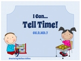 """Time: """"I Can ...Tell Time!"""" Lesson Pack"""
