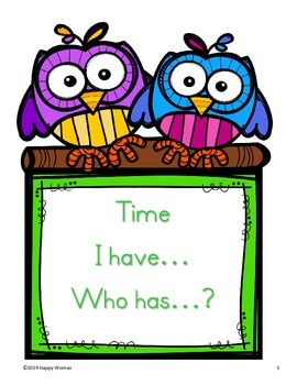 Time I Have...Who Has...?