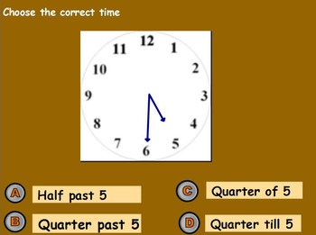 Basic Mat Skills - Intro to Clocks and Telling Time (w/ worksheet) (POWERPOINT)