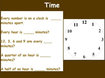 Basic Mat Skills - Intro to Clocks and Telling Time (w/ wo